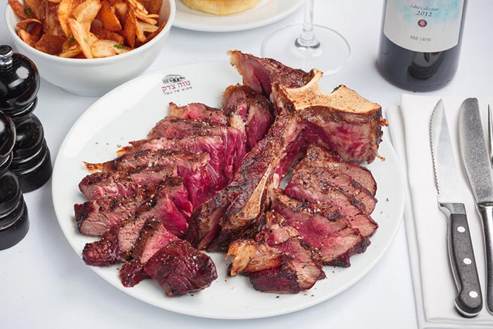 Sliced porterhouse